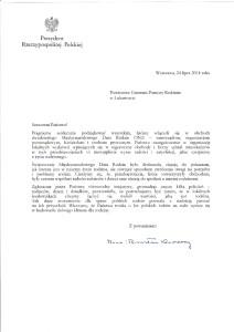 Kancelaria Prezydenta RP - List